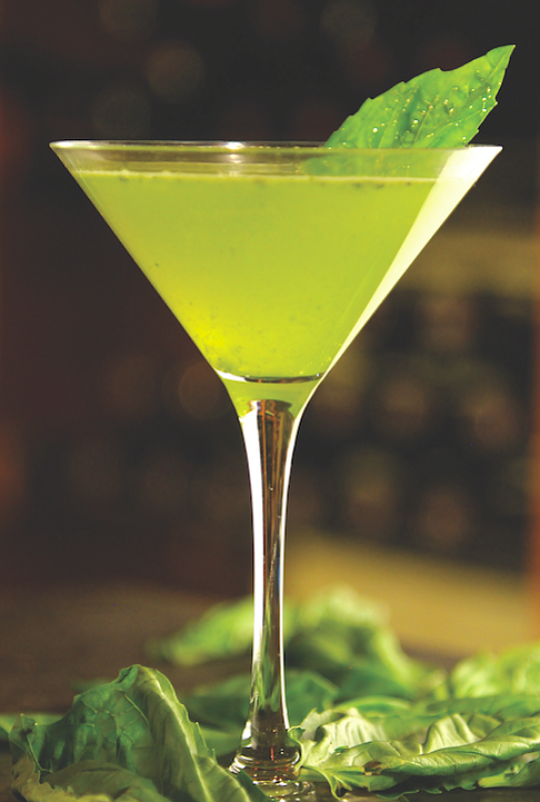 Bleu Boheme's Basil Martini