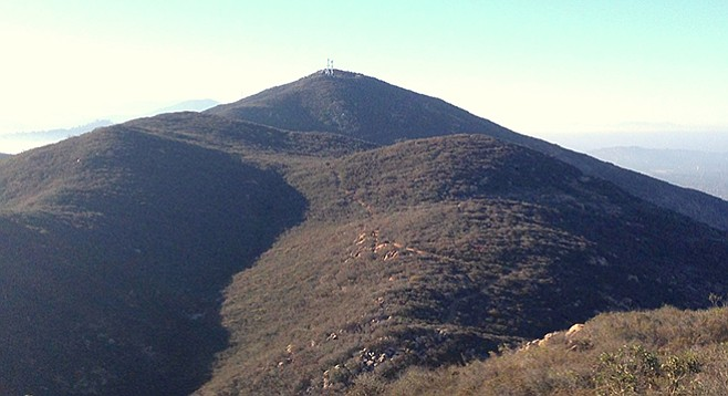 Cowles Mountain as viewed from Pyles Peak