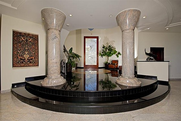 Don't miss the marble columns in the main entry