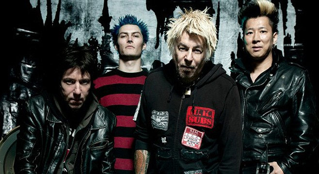 First-wave Brit-punks UK Subs take the stage at Soda Bar Sunday night!