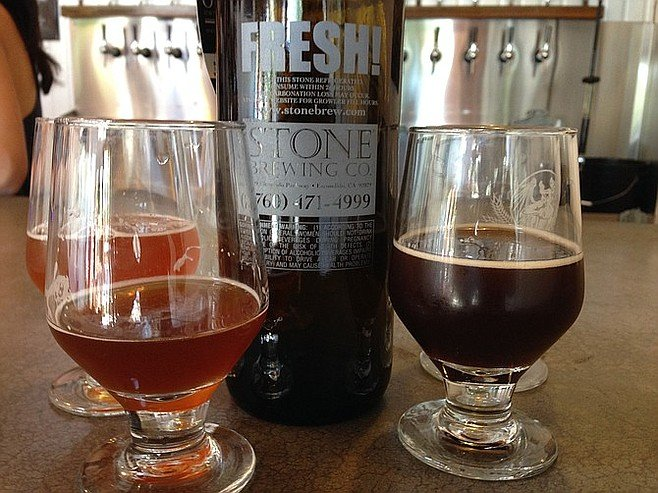 Tasters of Stone beers on hand for the last weekend of South Park's Company Store