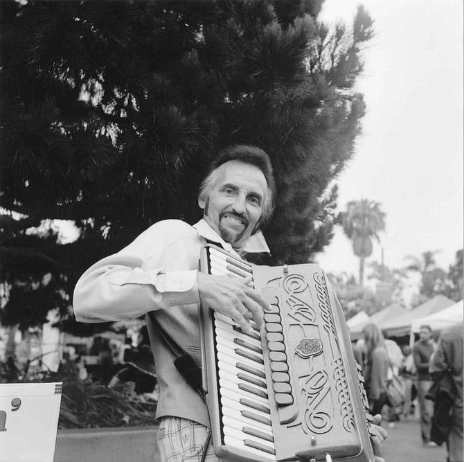 If you're lucky, Smiling Jack will be playing his accordion when you go to the Little Italy Mercato on Saturday mornings.  A San Diego classic, he is not to be missed!
