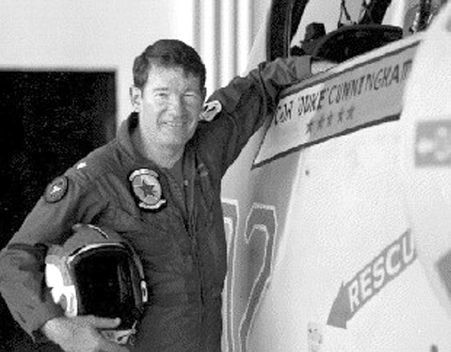 """Cunningham. I asked him the same question that had stunned him that night on the Constellation. His face drained, and he sat back down, elbows on his knees. """"The first kill I had was against the MiG-21, and I could see the guy in the airplane when I went over him, as he died."""""""