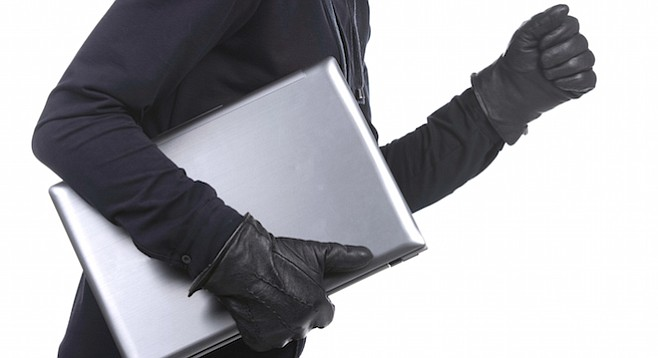 Thieves took computers, computers implicated thieves