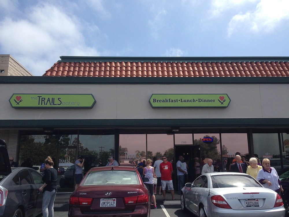 The Trails in San Carlos is a popular breakfast spot (and the only one in the area).