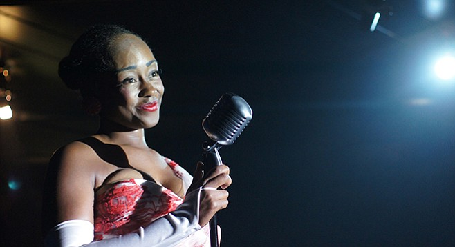 Cashae Monya as Billie Holiday in Lady Day at Emerson's Bar & Grill at Ion Theatre