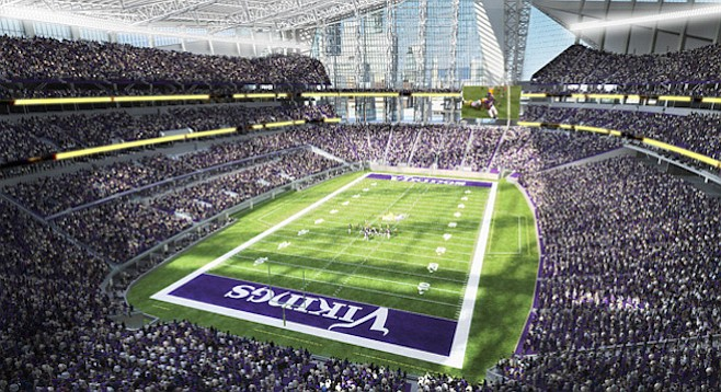 Architectural rendering of Minnesota's new stadium