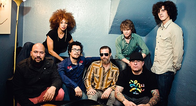 L.A.'s funk-n-soul big band Orgone's at Casbah Father's Day night.
