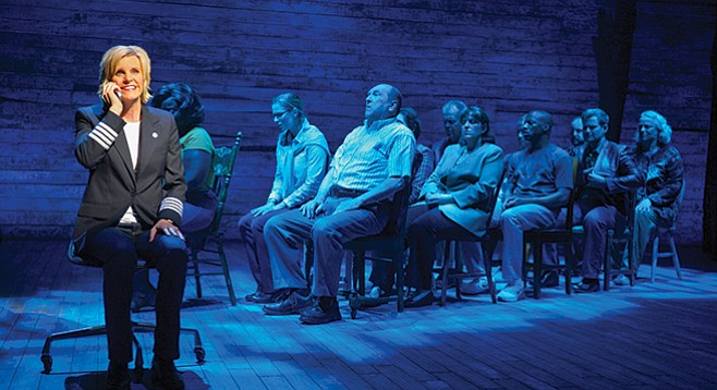 In Come From Away, a group of people withdraw from the world; they change, grow, and bond.