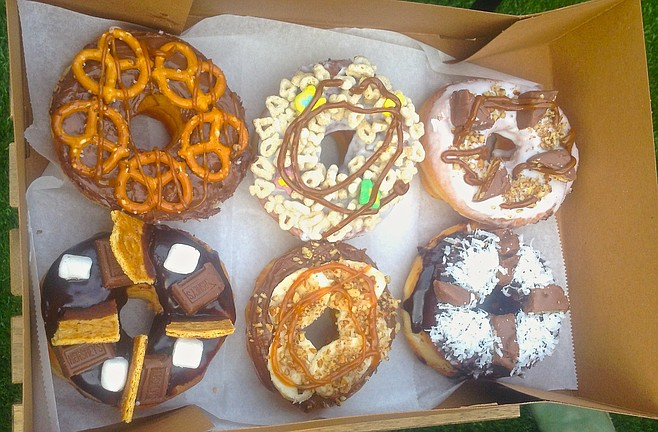 The other half dozen (s'mores, banana/Nutella, caramel/pretzel, Snickers, Almond Joy, and Lucky Charms).