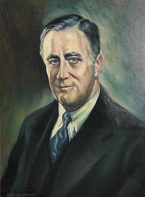Donald Armand Luscomb's portrait of Franklin Delano Roosevelt