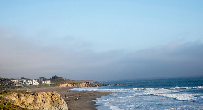 View from the town of Cambria, a seven-hour drive north of San Diego.