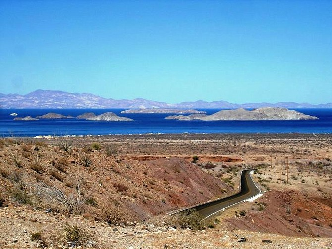 At the end of a 10 hour trip from San Diego, the road into Bahia de los Angeles provides a breathtaking view of the bay and islands. Also known as LA Bay, or BOLA, Bahia de los Angeles is a great fishery and diving destination. Photo from: www.fronteraensenada.info