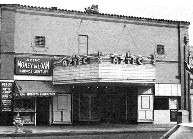 In December 1946, soon-to-be-murdered actress Elizabeth Short was found sleeping at the Fox Aztec by a clerk, after a screening of The Al Jolson Story.