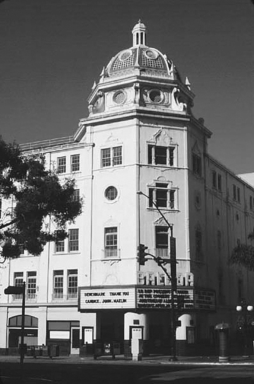 """Balboa Theatre. Among the Balboa's most distinctive features were the waterfalls on either side of the room. """"They were in enclosed chambers."""""""