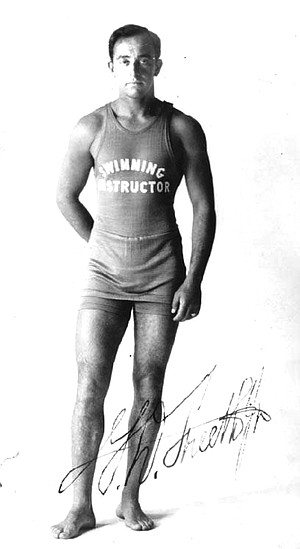 George Freeth. By May 1918, after 13 men died in a single day in rip currents, Ocean Beach secured Freeth's services as a lifeguard.