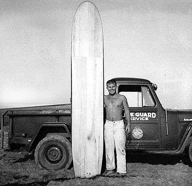 John Elwell, 1953. He'd grown up on E Avenue in Coronado listening to his father's stories about Hawaii in the 1920s.