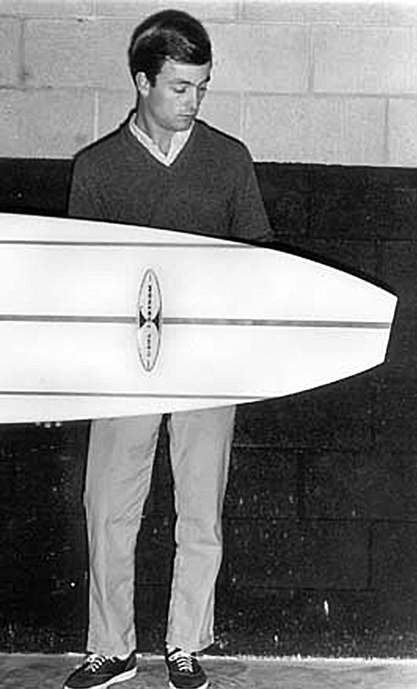 "Carl Ekstrom, 1960s. ""I took my mother's ironing board with me and used it to ride the soup."""
