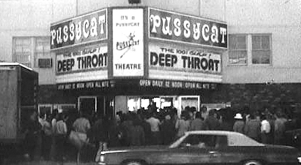 Pussycat Theatre, c. 1970. Miranda's social rep seemed unassailable even after it became common knowledge that he was buying an increasingly large stake in the Pussycat Theatre chain.
