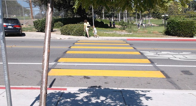New crosswalk at Mary Lanyon Fay Elementary School