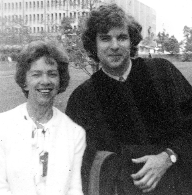 The author with his mother. She and Donald Smith, her favorite teacher, would paint landscapes in the Berkeley Hills or Niles Canyon.