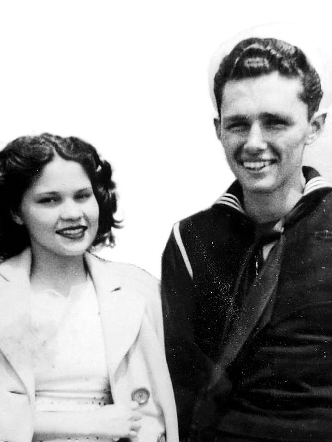 Bill and Irene, circa 1945, two years before they were married.