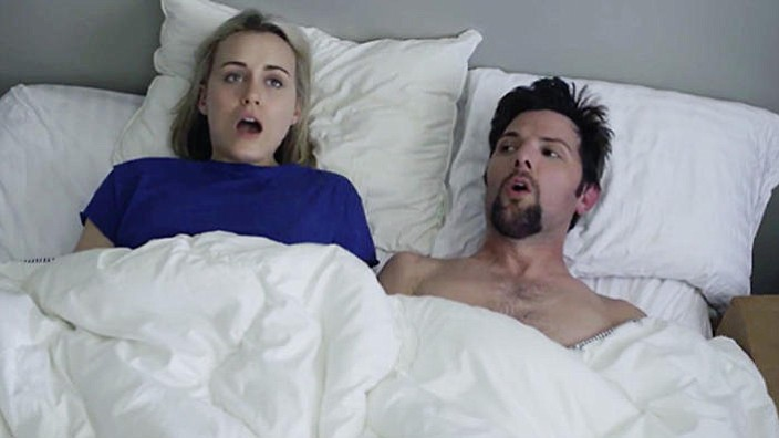 The Overnight's Taylor Schilling and Adam Scott