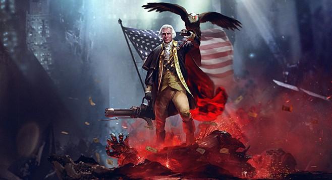 George Warshington - Image by etsy.com/shop/sharpwriter