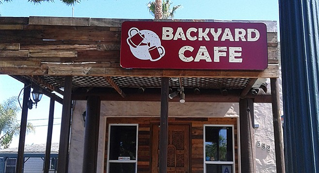 Backyard Cafe bye bye broke girls, hello backyard café | san diego reader