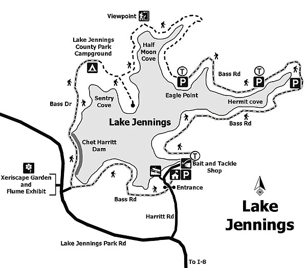 lake jennings campground map Lake Jennings Is A Hidden Gem For Wildlife Sightings Close To lake jennings campground map