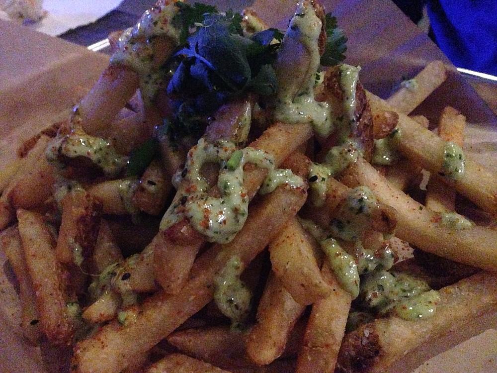 "The ""street fries"" cost seven bucks"