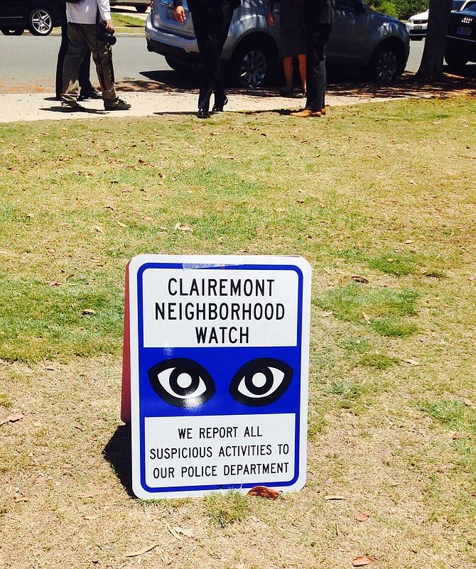New Clairemont Neighborhood Watch Sign