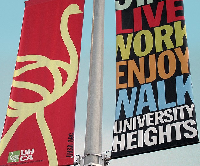 New University Heights Street Banners on Park Blvd @ El Cajon