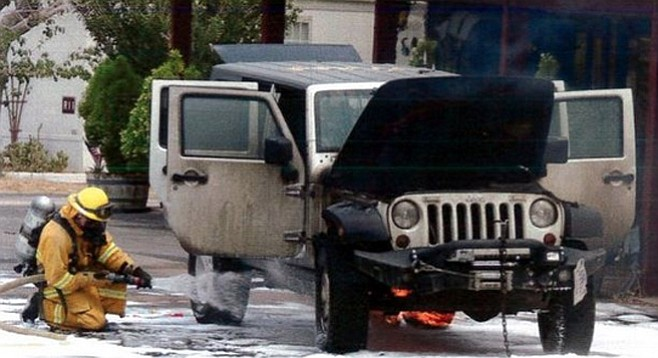 The 2009 Jeep allegedly responsible for the Chariot Fire
