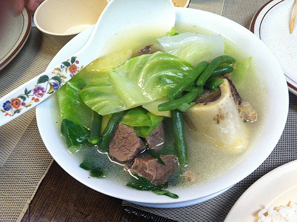 Neighbor's Beef Bulalo — beef with bone vegetable soup