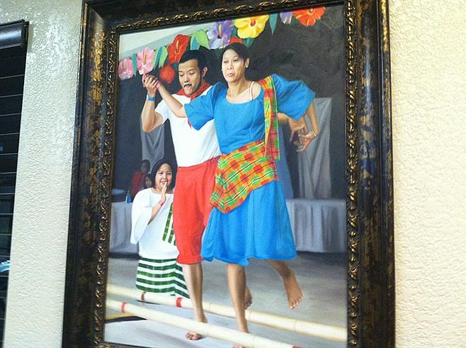 Wall painting of Filipino dancers