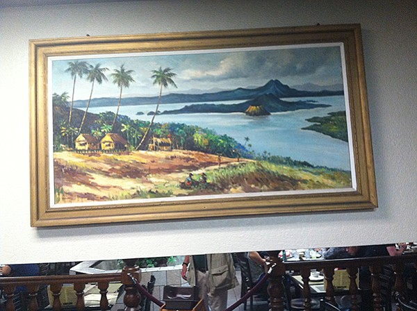 Wall painting of Filipino islands and volcanoes