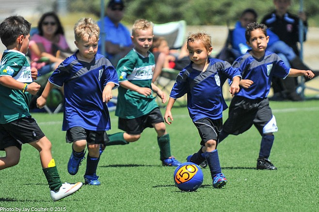 Crusaders Soccer Club's age brackets start with micro soccer for 3- and 4-year-olds.