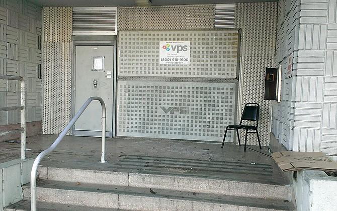 Sealed up front entrance