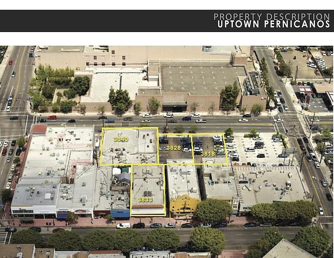 Bird's eye view of Pernicano's property
