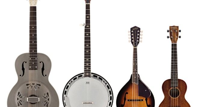 Guitar, banjo, mandolin, ukelele from the Gretsch Roots Collection