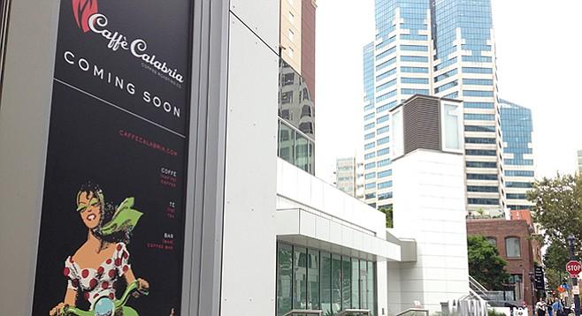 Caffé Calabria, coming soon to the San Diego skyline.