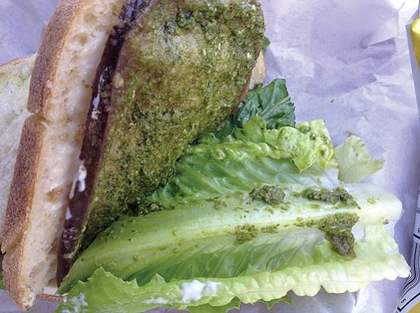 Eggplant sandwich: best o' the pesto
