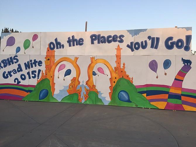 Rancho Bernardo High School  Dr Seuss mural 2015