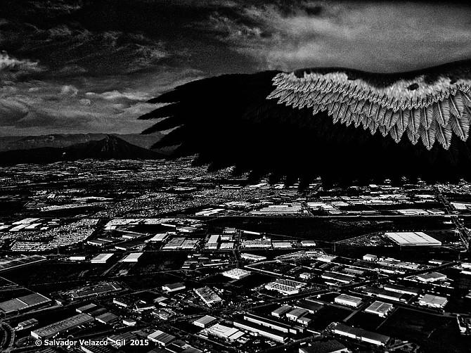 Travel Photos MEXICO Monterrey,Nuevo Leon,Mexico. Wings over Monterrey / Alas sobre Monterrey.