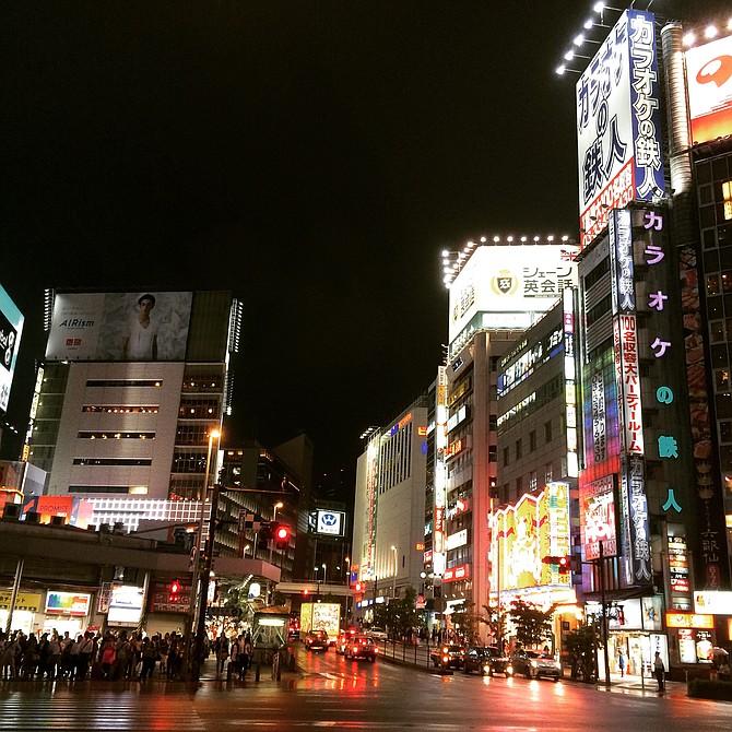 The lights of Shinjuku, Japan are calling me.