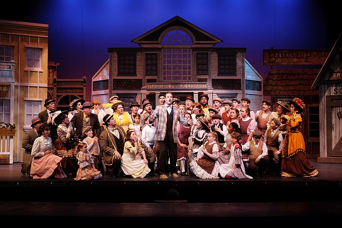 David Engel and Company in The Music Man at Moonlight - Image by Ken Jacques