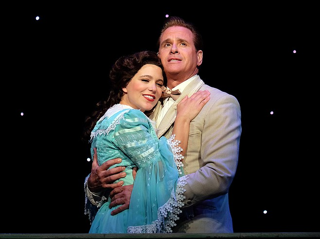 Alessa Neeck and David Engel in The Music Man at Moonlight