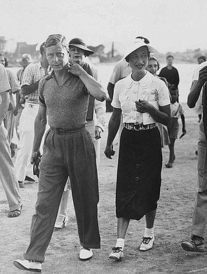 Edward VIII and Wallis Simpson in the Mediterranean, 1936. Both books accuse Edward of being a Nazi sympathizer who cozied up to Hitler, possibly handing intelligence to Germany about Britain's intentions toward Belgium in 1940.