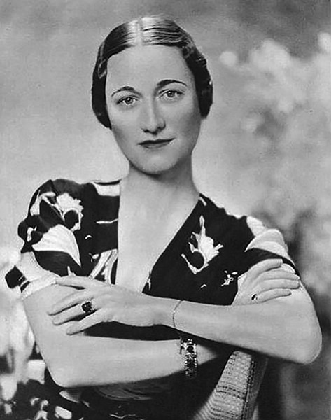 "Wallis Spencer Simpson in 1936. Andrew Morton's profile is titled 17 Carnations. The ""17"" refers to the number of flowers von Ribbentrop allegedly presented to Wallis. Word was, this represented the number of times she slept with him."